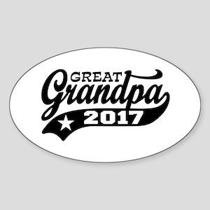 Great Grandpa 2017 Sticker (Oval)