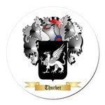 Thurber Round Car Magnet