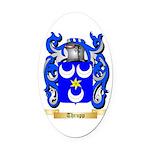 Thrupp Oval Car Magnet