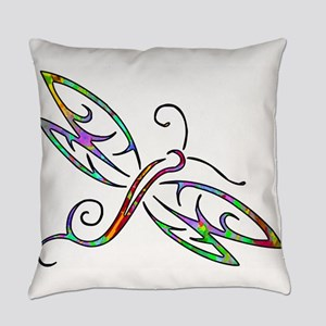 Colorful dragonfly Everyday Pillow