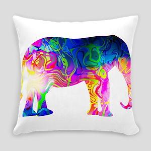 Cool spaghetti Elephant Everyday Pillow