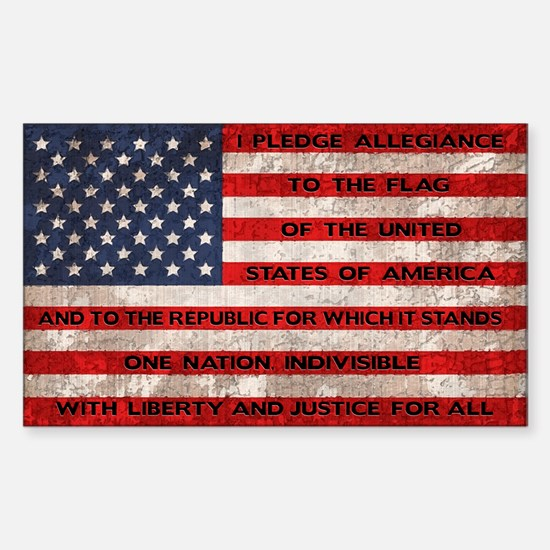 Original Pledge Sticker (Rectangle)