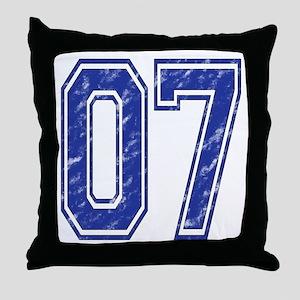 07 Jersey Year Throw Pillow
