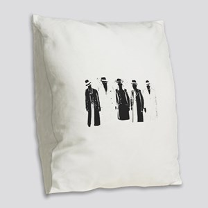 Original Gangsters Burlap Throw Pillow