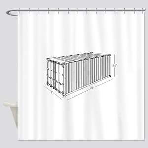 Container Shower Curtain
