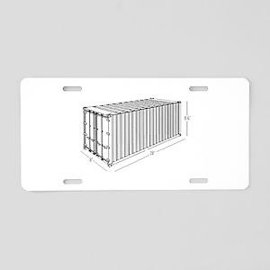 Container Aluminum License Plate