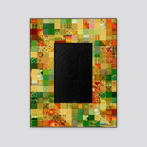 Colorful Patchwork Quilt Picture Frame