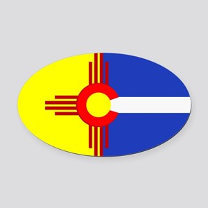 NM/CO Oval Car Magnet