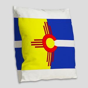 NM/CO Burlap Throw Pillow