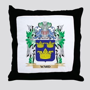 Ward Coat of Arms - Family Crest Throw Pillow