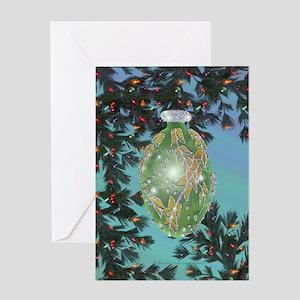 Blown Glass Ornament Greeting Card
