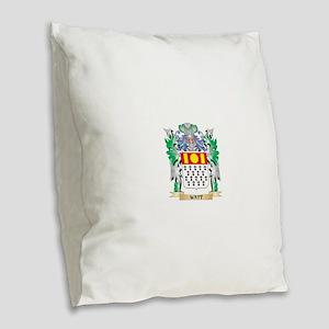 Watt Coat of Arms - Family Cre Burlap Throw Pillow