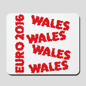 Wales Euro 2016 grunge style design Mousepad