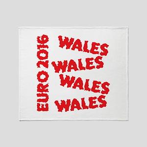Wales Euro 2016 grunge style design Throw Blanket