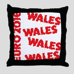 Wales Euro 2016 grunge style design Throw Pillow
