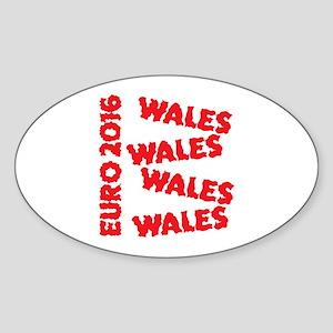 Wales Euro 2016 grunge style design Sticker