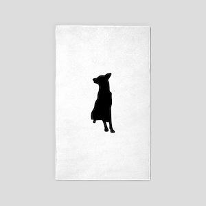 Great Dane silhouette Area Rug