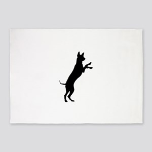 Entlebucher mountain dog silhouette 5'x7'Area Rug