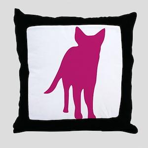 German shepherd dog silhouette Throw Pillow