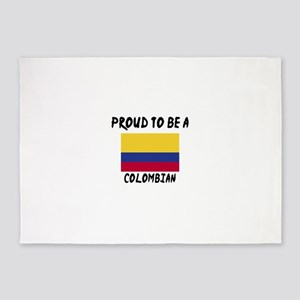 Proud To Be Colombian 5'x7'Area Rug