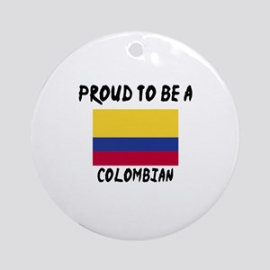 Proud To Be Colombian Round Ornament