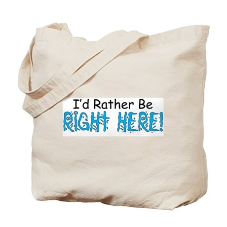 I'd Rather Be Right Here Tote Bag
