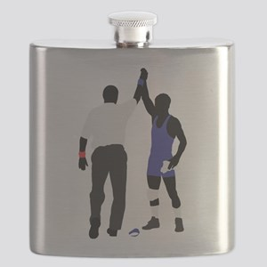 Wrestling winner art Flask
