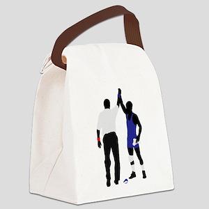 Wrestling winner art Canvas Lunch Bag