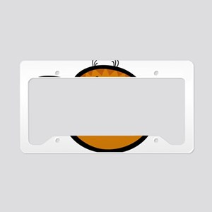 Cat laughing head art License Plate Holder