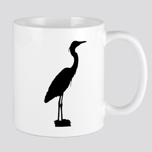 Great blue heron silhouette Mugs