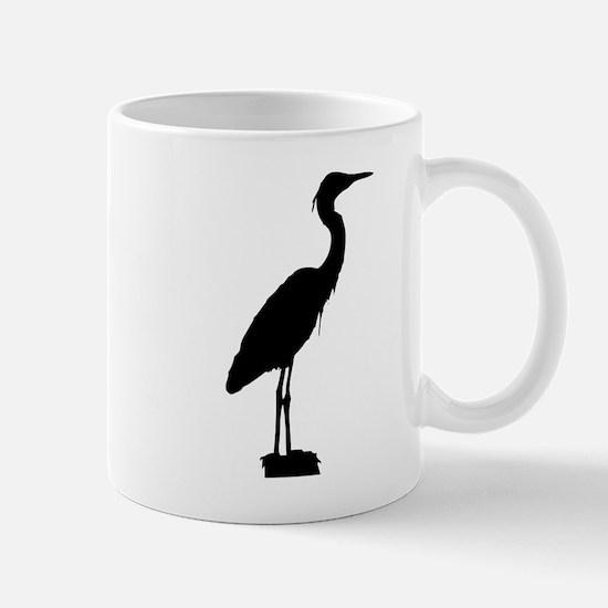 Great blue heron silhouette Mugs