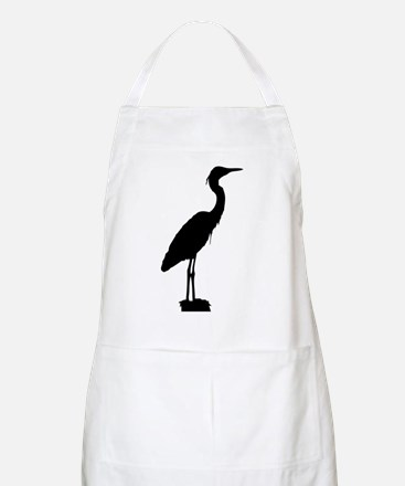 Great blue heron silhouette Apron