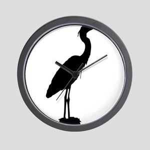 Great blue heron silhouette Wall Clock