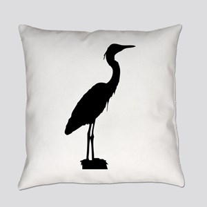 Great blue heron silhouette Everyday Pillow