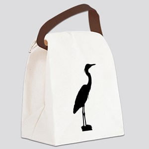 Great blue heron silhouette Canvas Lunch Bag
