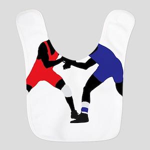Wrestling fight art Bib