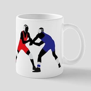 Wrestling fight art Mugs