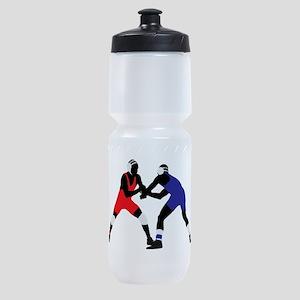 Wrestling fight art Sports Bottle