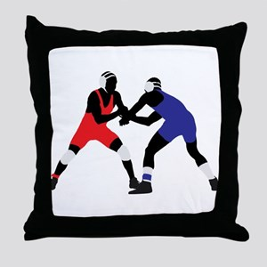 Wrestling fight art Throw Pillow