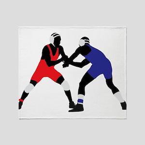 Wrestling fight art Throw Blanket
