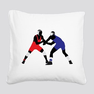 Wrestling fight art Square Canvas Pillow