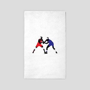 Wrestling fight art Area Rug