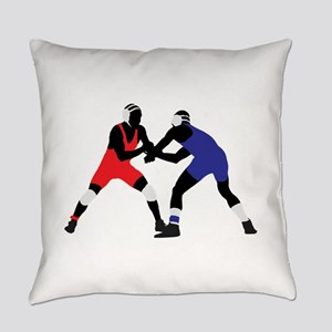 Wrestling fight art Everyday Pillow