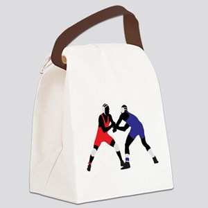 Wrestling fight art Canvas Lunch Bag