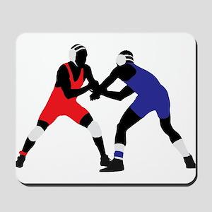 Wrestling fight art Mousepad