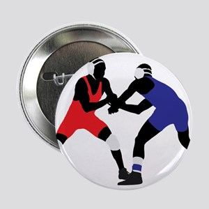 "Wrestling fight art 2.25"" Button"