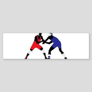 Wrestling fight art Bumper Sticker