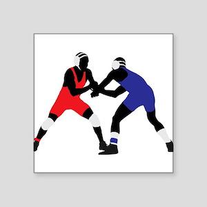 Wrestling fight art Sticker