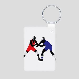 Wrestling fight art Keychains