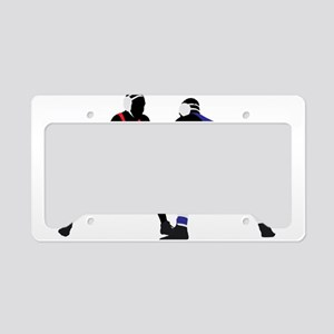 Wrestling fight art License Plate Holder
